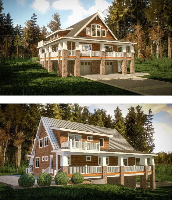 Plan 18283be magnificent wrap around porch house plans for Building a garage on a sloped lot