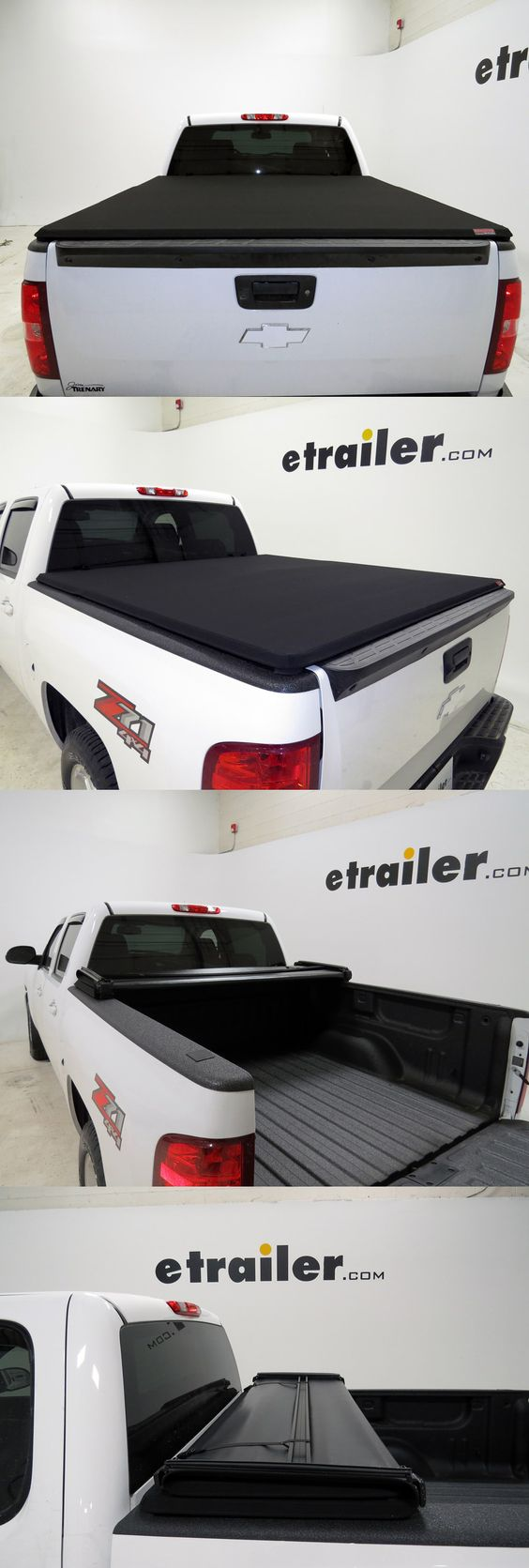 This is hardly your ordinary soft tonneau. Extang tri-fold cover is low profile and mounts using a self-contained clamping system instead of rails, allowing for temporary use and rapid installation and removal. Matte black canvas sports a rich texture and rugged durability. This tonneau makes a perfect accessory for your truck bed!