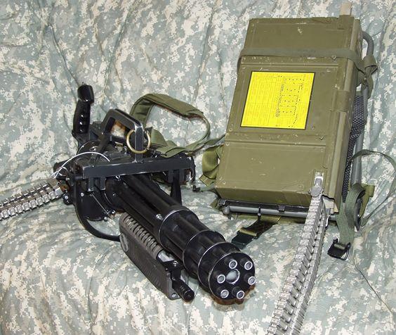 PAIN KILLER...the hitman Voraz Capio's weapon of choice is a hand-held minigun called an f-gun; similar to this.
