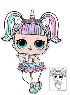 Unicorn Series 3 L O L Surprise Doll Coloring Page Cizimler Lol Denizkizi Sanati