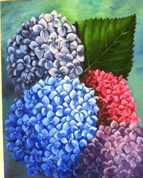 30x40x2 Gallerywrapped canvas.  Giant Hydrengeas by ArtByDoodles, $320.00