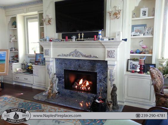 Custom gas fireplace, Naples fl | Indoor Fireplaces | Pinterest ...