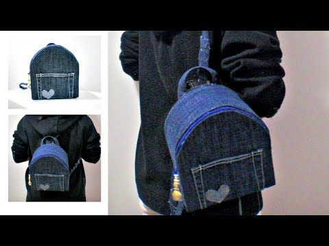 Diy No Sew Backpack From Old Jeans How To Make Your Own Backpack