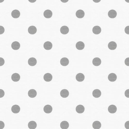 White and Gray Polka Dot Fabric by the Yard | Carousel Designs: