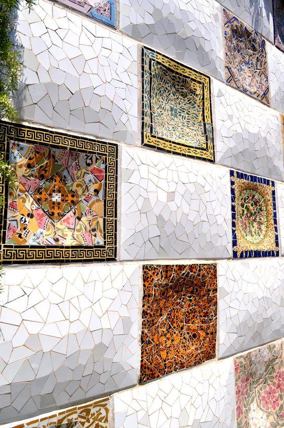 Mosaicos Parc Guell, Barcelona.