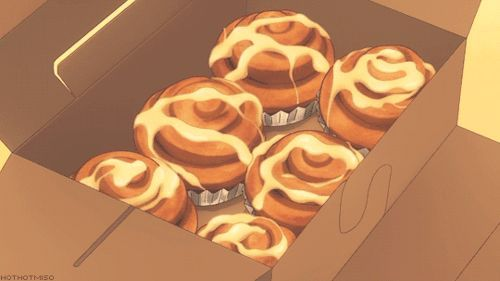 Cinnabon Kanilsnudar Anime Bento Aesthetic Anime Food Drawing