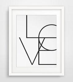 Poster con scritta Love