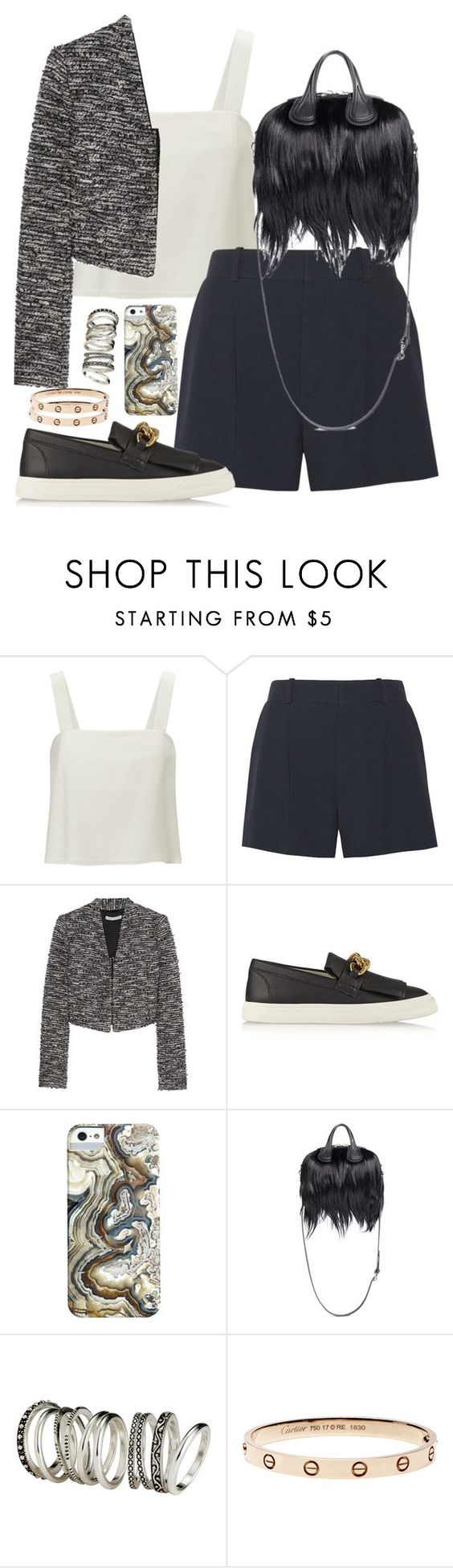 """""""Untitled #734"""" by malurodz ❤ liked on Polyvore featuring 3.1 Phillip Lim, Chloé, Alice + Olivia, Giuseppe Zanotti, Givenchy and H&M"""