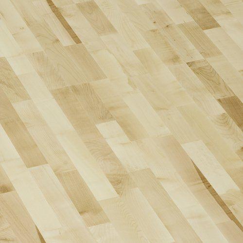 Esdoorn (Maple, Ahorn) 3 stook houten vloer afgewerkt met 7 lagen uv geharde vernis