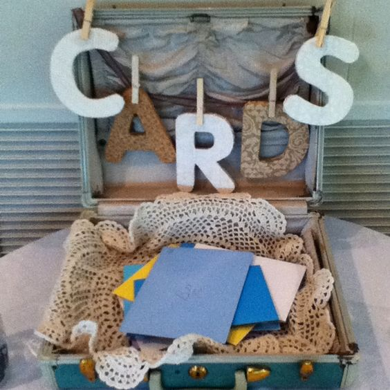 """Another pinner: """"Saw this adorable card set up at a retirement party I worked"""""""