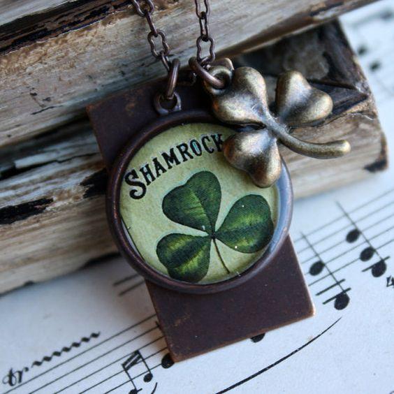 Shamrock necklace: