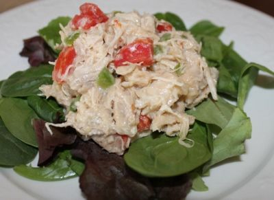 Use Italian dressing instead of mayonnaise when making chicken salad for a delicious twist on an old favorite.  Add blk olives and green onion