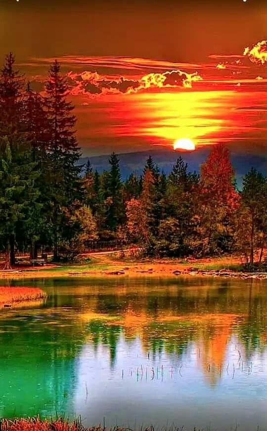 Peaceful Sunset Nature Photography Beautiful Landscapes Nature
