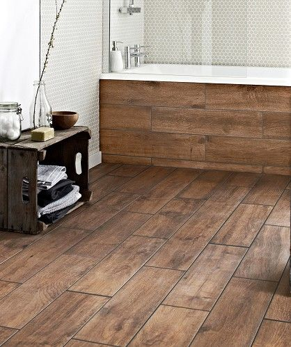 Google wooden flooring and grout on pinterest for Wood effect vinyl flooring bathroom