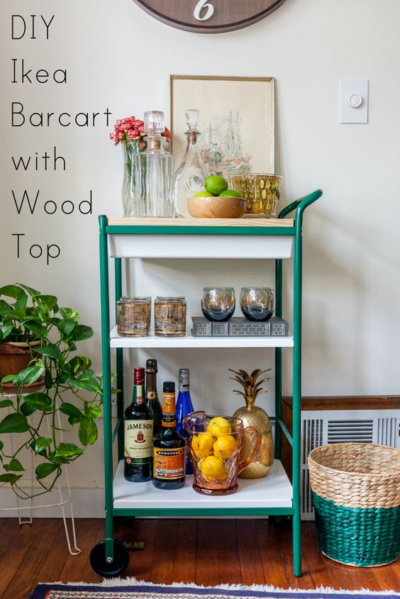 For less tops and ikea bar cart on pinterest for Ikea divanetti bar