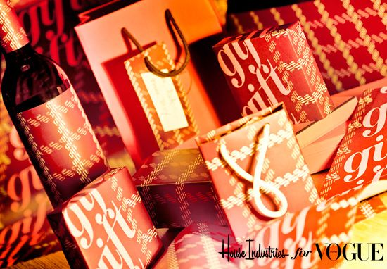 wrapping paper by house industries for Vogue