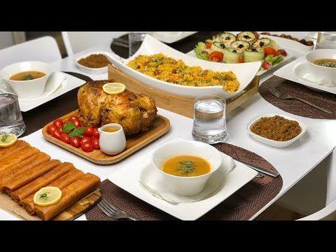 فطور النصفية تاع رمضان روطي الدجاج مثل المطاعم مع الارز السلطة المخللة السريعة عصير الفواكه Youtube Food Cheese Board Breakfast
