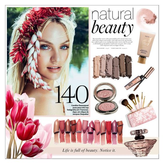 """""""Natural Beauty ~ Candice Swanepoel"""" by katrinaalice ❤ liked on Polyvore featuring beauty, Urban Decay, NARS Cosmetics, Benefit, Lancôme, Chantecaille, AERIN and tarte"""