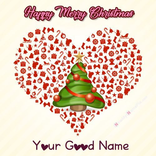 Latest Beautiful Wish Card Christmas Festival Day Make Your Name