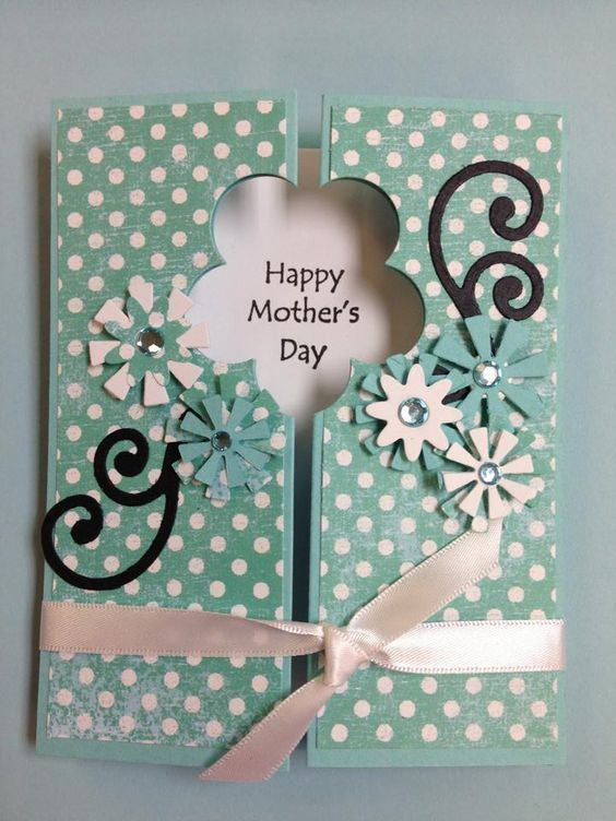 Vintage Diy Mothers Day Card Vintage Diy Crafts Mothers Day Card Mothers Day Craft Gatefold Cards Cards Handmade Homemade Cards