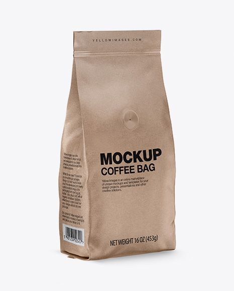 Download Kraft Coffee Bag With Valve Mockup Half Side View Present Your Design On This Mockup Simple Mockup Free Psd Free Psd Mockups Templates Psd Mockup Template