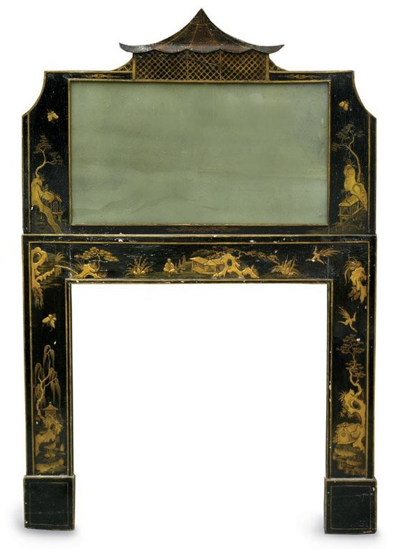 Georgian chinoiserie fireplace surround :