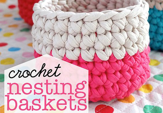 Crochet pots made on 12mm hooks. Should be quick!