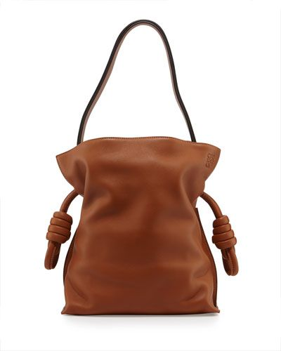 LOEWE Flamenco Small Knot Bucket Bag, Tan. #loewe #bags #shoulder bags #lining #bucket #