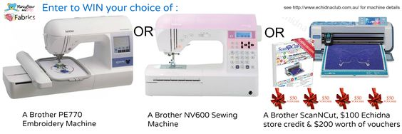 Win A Brother PE770 Embroidery Machine