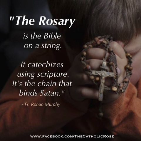 This is a wonderful way to think of the rosary. The 20 different mysteries that…: