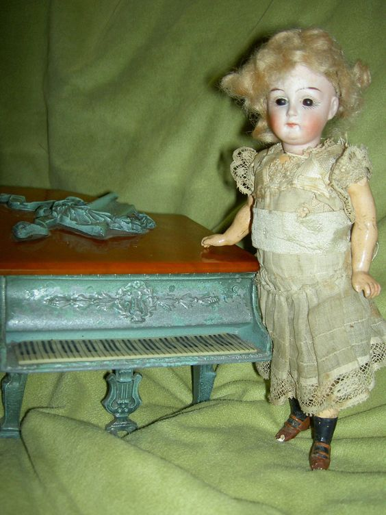 FABULOUS, early antique bisque French or German walker doll #3 all original | eBay