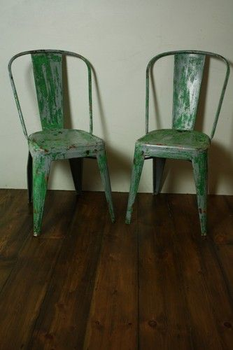 PAIR OF VINTAGE METAL TOLIX FRENCH CAFE CHAIRS 1920s | eBay UK  | eBay.co.uk