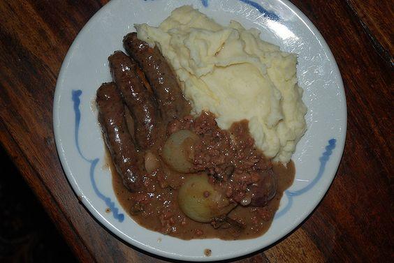 Venison Sausage Casserole with Mash Potatoes