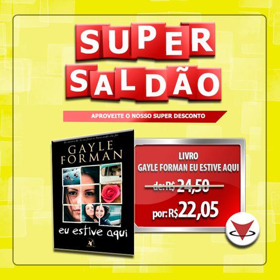 Aproveite o nosso SALDÃO e Adquira LIVROS, CDs e DVDs com SUPER DESCONTO!  LIVRO: Eu Estive Aqui   Acesse: http://goo.gl/5sypz0 www.vitrola.com.br  #SextadeSaldão #Vitrola #Livro #GayleForman