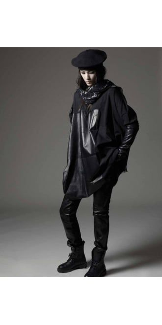 Ivan Grundahl Diz Oversized Leather and Jersey Top