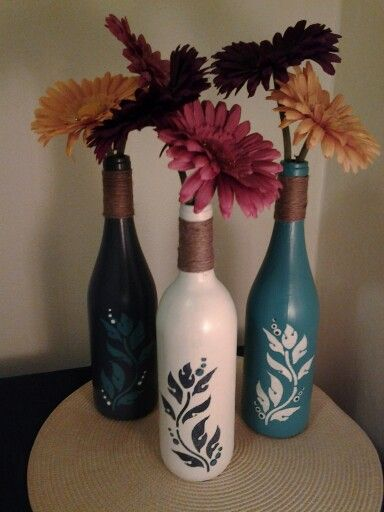 Wine bottle crafts: