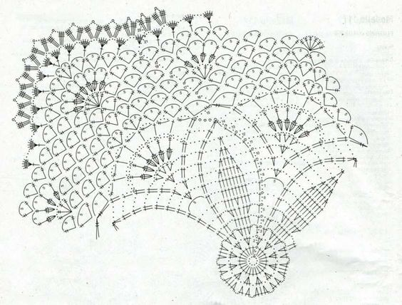 Centrini a uncinetto: schemi e modelli - Schema centrino con un disegno