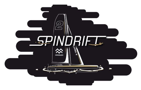 Spindrift Route du Rhum by SUPERFRUIT-graphic design-motion design-boat race-vector illustration