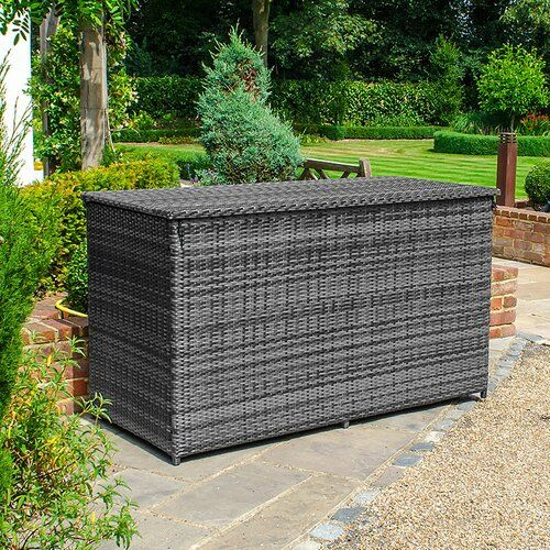 Sol 72 Outdoor Mancuso Rattan Storage Box Waterproof Garden