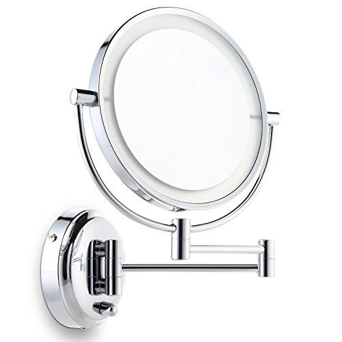 Miusco Lighted Magnifying Double Side Adjustable Makeup Mirror