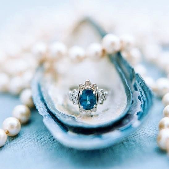 Drooling over this antique ring from @trumpetandhorn captured beautifully by Faith Teasley Photography! #ring #engagementring #gem #gemstones #antique #marryme #wedding #pearl #praisewedding