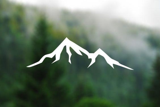 DECAL Mountain Vinyl Decal Car Window Decal Laptop by TreeAndArrow