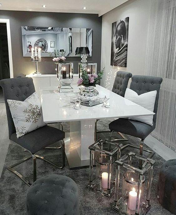 Snowflake Cushions Living Room Decor Apartment Luxury Interior Dining Room Table Decor