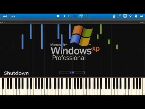 Windows Startup And Shutdown Sounds In Synthesia Youtube Start