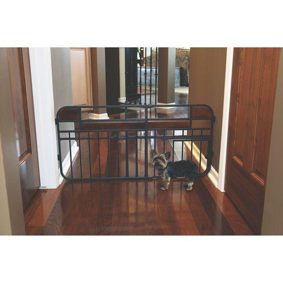 Design Studio Expandable Pet Gate - Black (Mini)