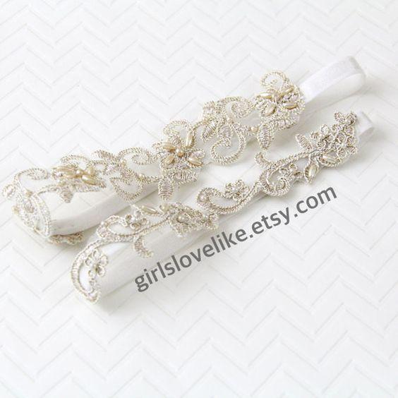 Leichte Gold Perlen Lace Hochzeit Strumpfband Set, Champagner Braut Strumpfband, Keesake Strumpfband, werfen Strumpfband, GT-21