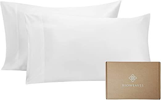 Bioweaves 100 Organic Cotton King Pillow Cases 300 Thread Count Soft Sateen Weave Gots Certified Ndas Organic Cotton Pillows Cotton Pillow Cases King Pillows