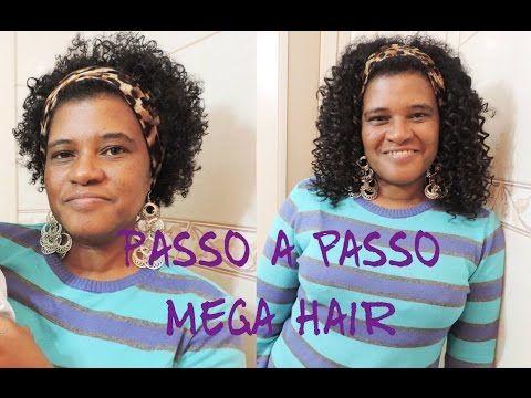 Passo A Passo Mega Hair No Italiano Cabelo Natural Youtube