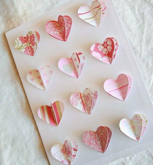 Geschenke und Dekoration zum Valentinstag selbst machen papier