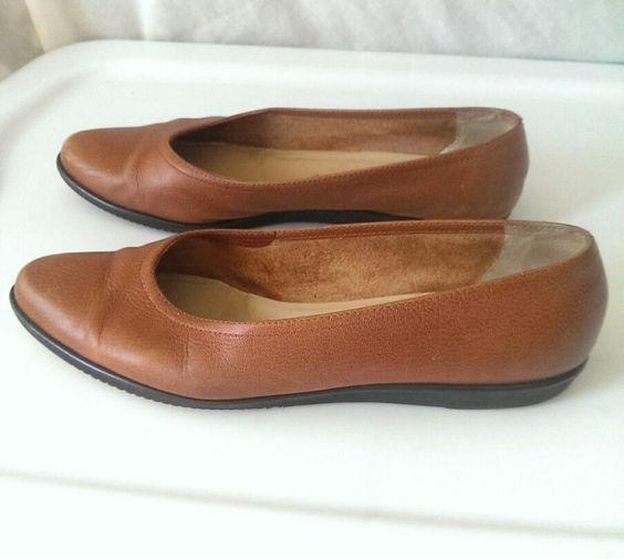 Salvatore Ferragamo Boutique Flat Shoes Size 7.5 B Ballerinas Brown #SalvatoreFerragamo #Ballerinas